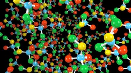 Molecule isolated on black