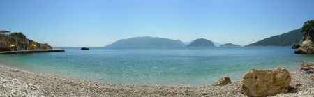 Panoramic seashore in Alonissos Stock Photo