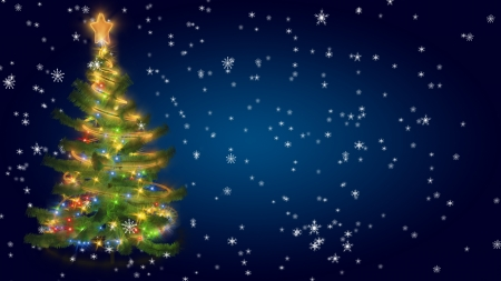 Christmas tree on blu background Banque d'images