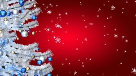 Christmas tree on red background Banque d'images