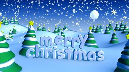 メリー ・ クリスマス冬雪の風景を 写真素材