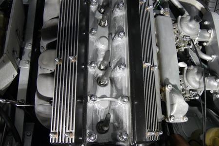 車のエンジンのクローズ アップ