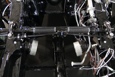 Close up of mechanical part of a car