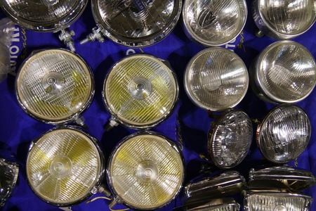 Background of assorted car lights