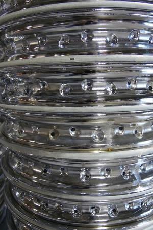 積み上げリム車輪の背景