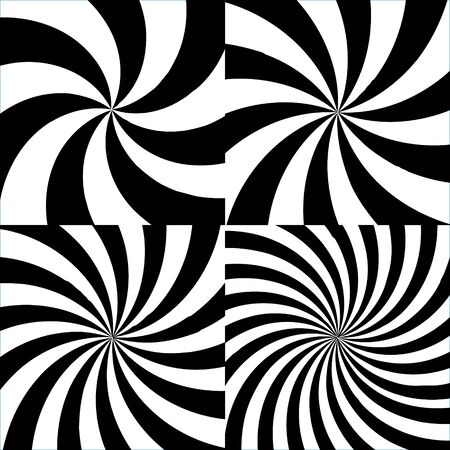 Sun ray pattern, 2d vector radial elements, black and white colors, eps 8