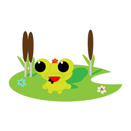 bulrush: the frog princess Illustration