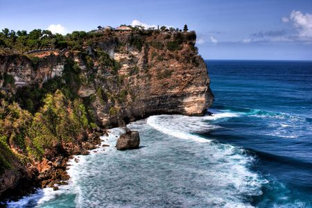 Uluwatu Temple in Bali Stock Photo