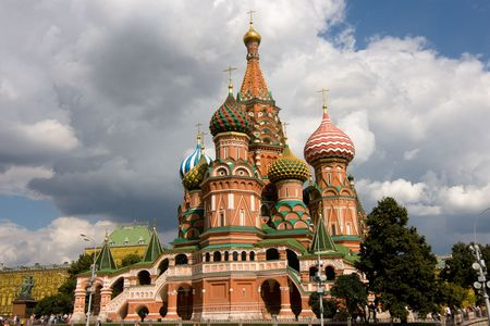 red square moscow: Cathedral, Red Square, Moscow, Russia. Stock Photo