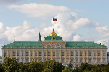 President Palace in Moscow Kremlin. Stock Photo