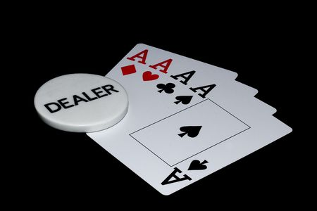 Aces and dealer mark.