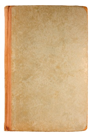 Old Antique book isolated on white. Stock Photo