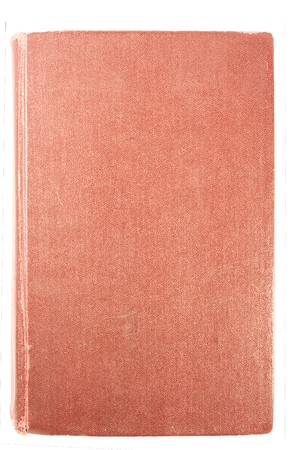 Red Antique book isolated on white.