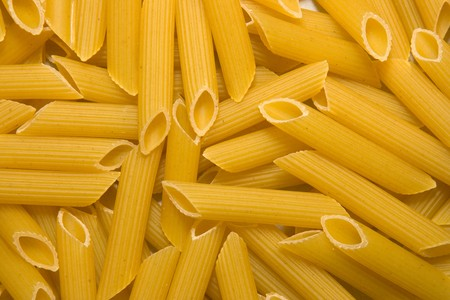 Close up of the Penne Pasta Uncooked Stock Photo