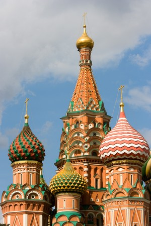 Heads of the Basil�s Cathedral, Red Square, Moscow, Russia. Stock Photo