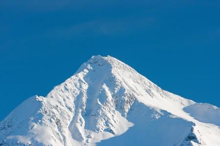 冬の山の氷河 写真素材
