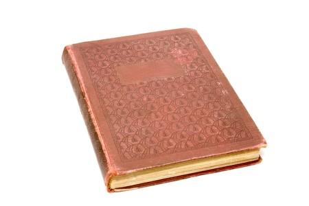 アンティークの本は、白で隔離されます。 写真素材