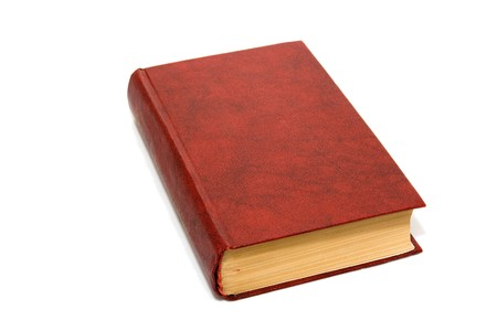 Red book isolated on white. Stock Photo
