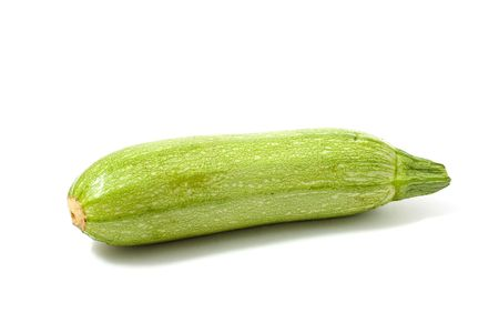 Vegetable marrow isolated on white.