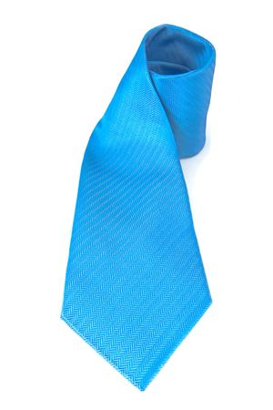 Blue Neck Tie isolated on white