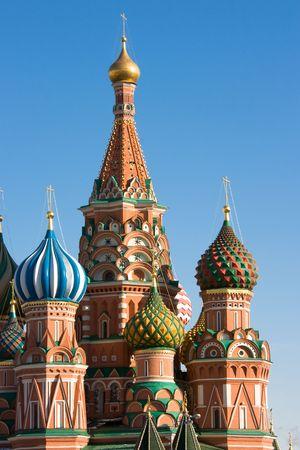 red square moscow: Jefes de Basils la Catedral, la Plaza Roja, Mosc�, Rusia.