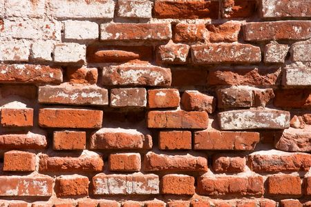 Red brick wall as background Stock Photo