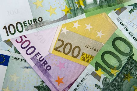 Euro banknotes like background. Stock Photo
