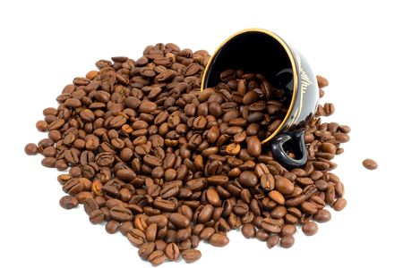 Cup and Coffee beans background