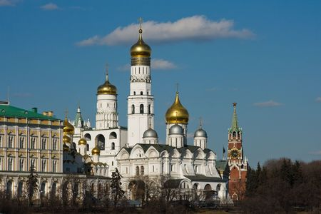 Church In Moscow Kremlin. Stock Photo