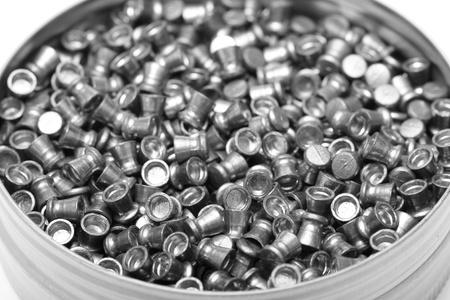 airgun: Close-up of box with airgun pellets