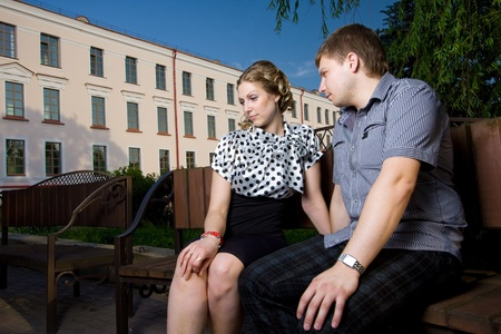 Beautiful young couple on a date Stock Photo - 10816650