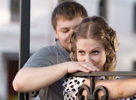 Young couple on a date Stock Photo - 10893329