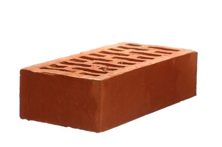brique: Mat�riaux de construction: briques isol� sur blanc