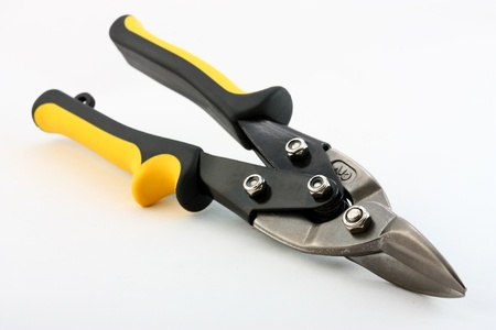 snips: Construction tools: snips on neutral background