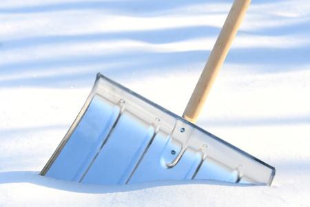 Snow removal metal shovel