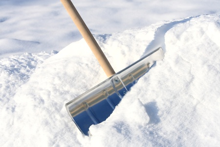 Snow removal metal shovel