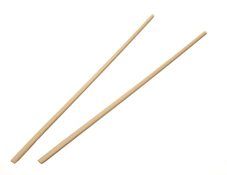 Two chopsticks isolated on white