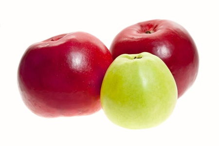 Juicy apples on white background photo