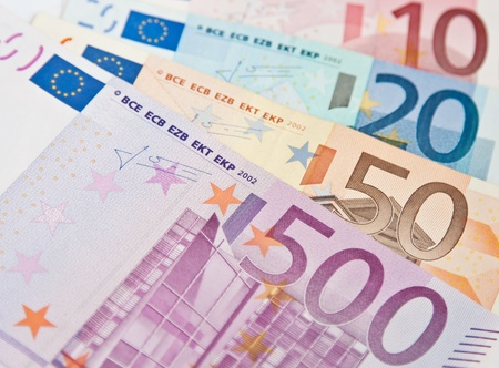 fantail: Fantail from euro banknotes