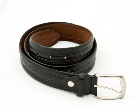 convolute: Convolute mens belt on neutral background