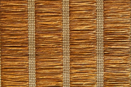 Brown jute placemat; jute background Stock Photo
