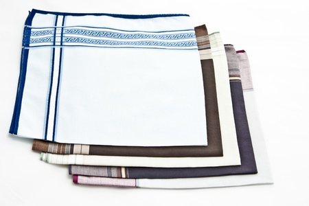 A mens handkerchief on white background