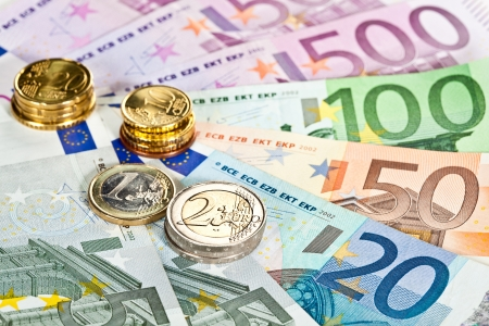 money euro: Capital augmentation: euro banknotes and coins