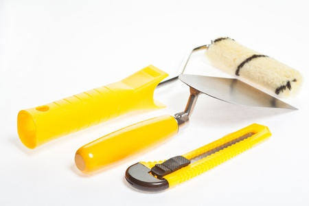 putty knives: Construction tools Stock Photo
