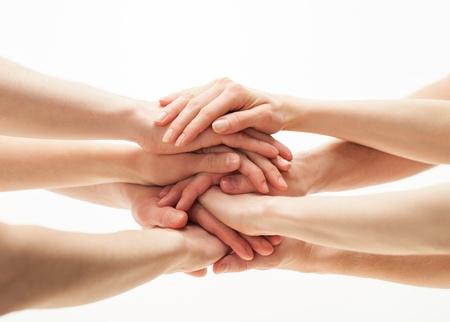 manos sosteniendo: Manos grupo