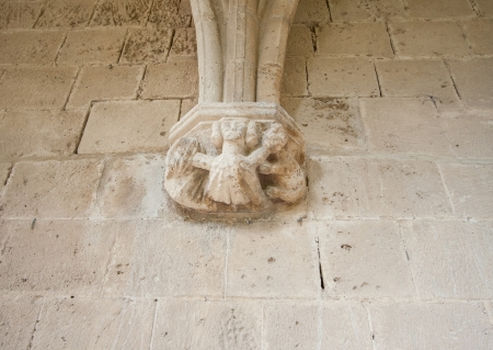 Details of decor of Bellapais Abbey (The Abbey of Peace) photo