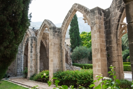 View of Bellapais Abbey (The Abbey of Peace) built in 13th century, Cyprus