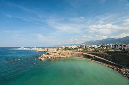 Seascape and city in background, Northern Cyprus, Kyrenia
