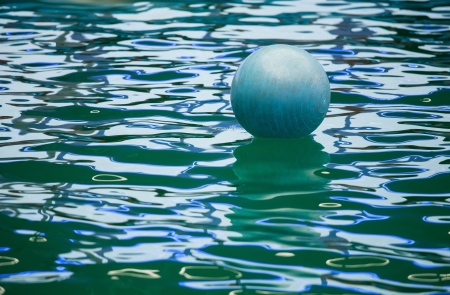 A floating  ball in dolphinarium Stock Photo - 16567145