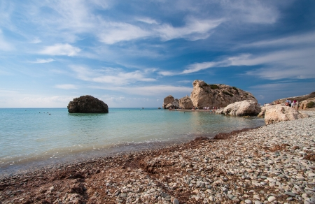 Petra tou Romiou (The rock of the Greek), Aphrodite's legendary birthplace in Paphos, Cyprus photo